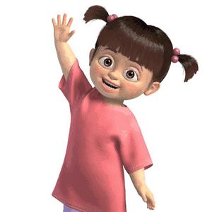 """A personagem Boo, do filme Monstros S.A., que serviu de """"inspiração"""" para a brincadeira de MC Gui - Reprodução"""
