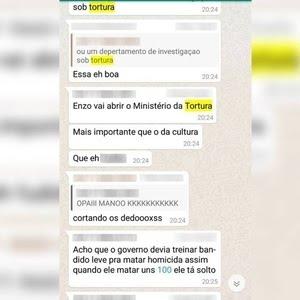 Grupo do Whatsapp criado por alunos do colégio Antônio Vieira - Reprodução
