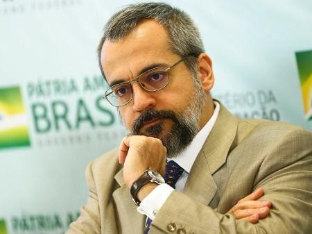 O ministro da Educação, Abraham Weintraub, durante apresentação do Compromisso Nacional pela Educação Básica - Marcelo Camargo/Agência Brasil