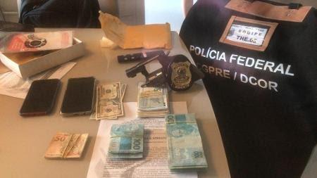 27.jul.2020 - Dinheiro apreendido durante operação da PF contra Rejane Dias (PT-PI) - Divulgação/PF