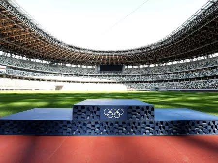 Pódio de premiação das Olimpíadas de Tóquio - Divulgação/Tokyo 2020